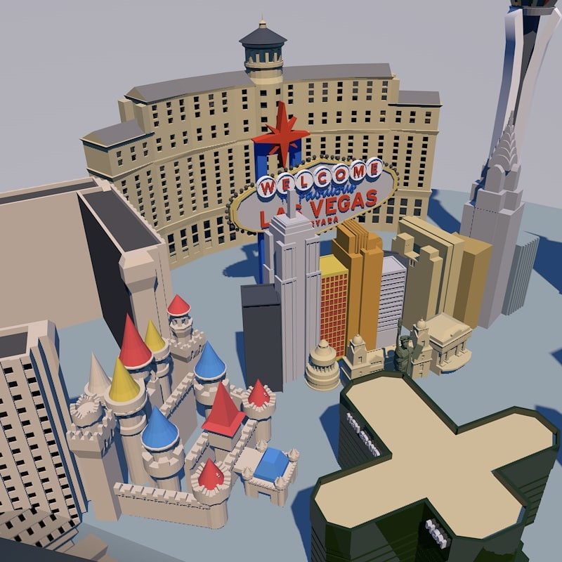 3ds low-poly las vegas s