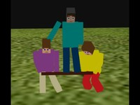 Minecraft parkour animated