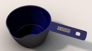 3d measuring cup model