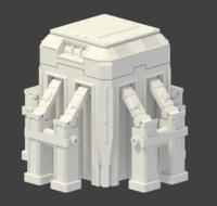 cube sci-fi doodad 3d model