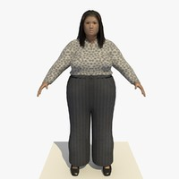 3ds realistically asian woman clothed