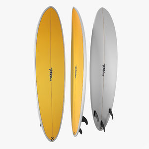 surfboard funboard 3 3d model