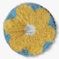 3d carpet flower
