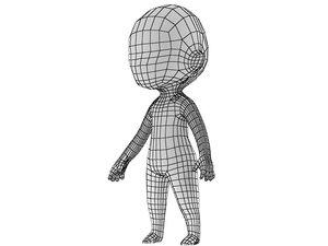 chibi base mesh 3d max