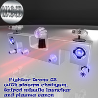 3d fighter drone 02 sci fi