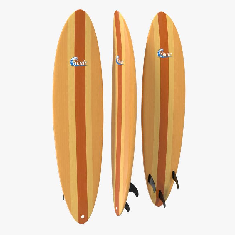 3d surfboard funboard 2 model