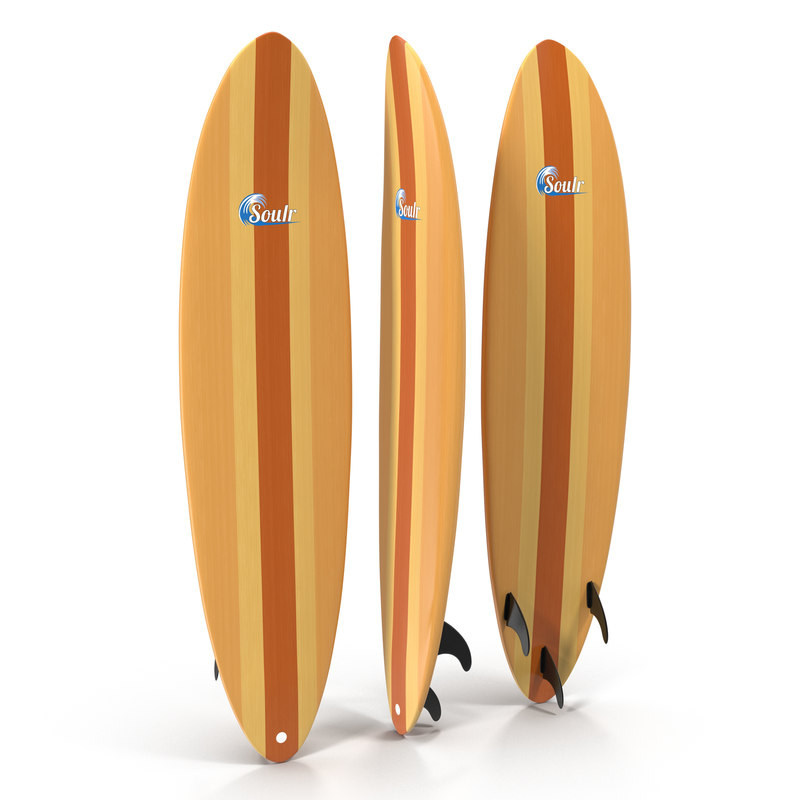 3d surfboard funboard 2 model