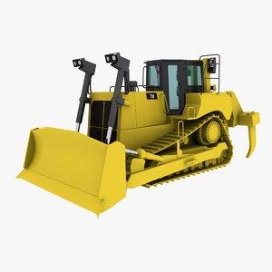 bulldozer industrial 3d model