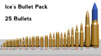 3d model pack bullet shell s