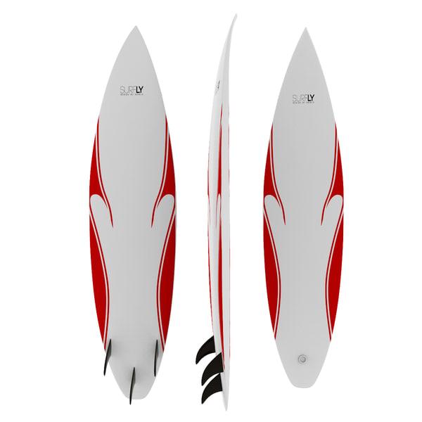 3d surfboard model