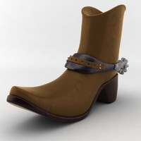 3d model cowboy boot