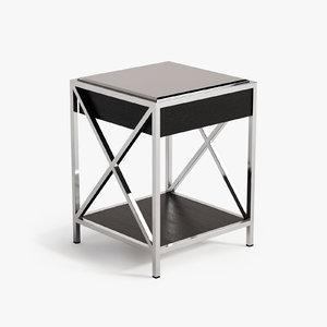 3d bedside table beverly hills model