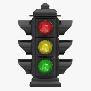 traffic light 03 3d 3ds