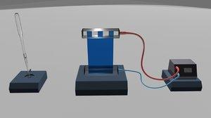 gel electrophoresis 3d obj