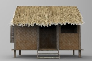 x indonesian traditional house building