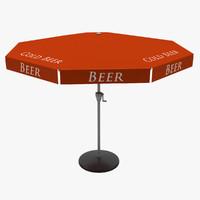 c4d sunshade parasol