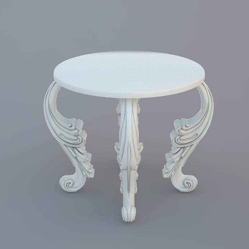 3d model table classical