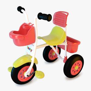 trike bike child 3d c4d