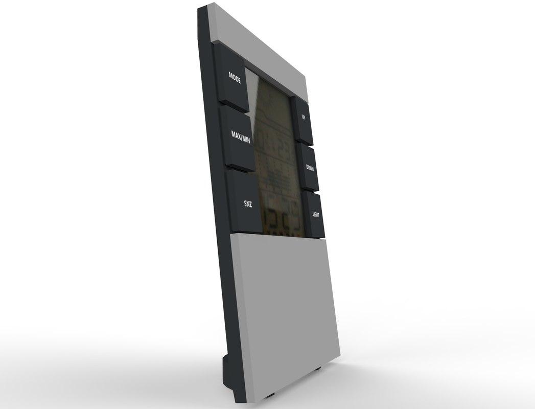 3d obj digital alarm clock