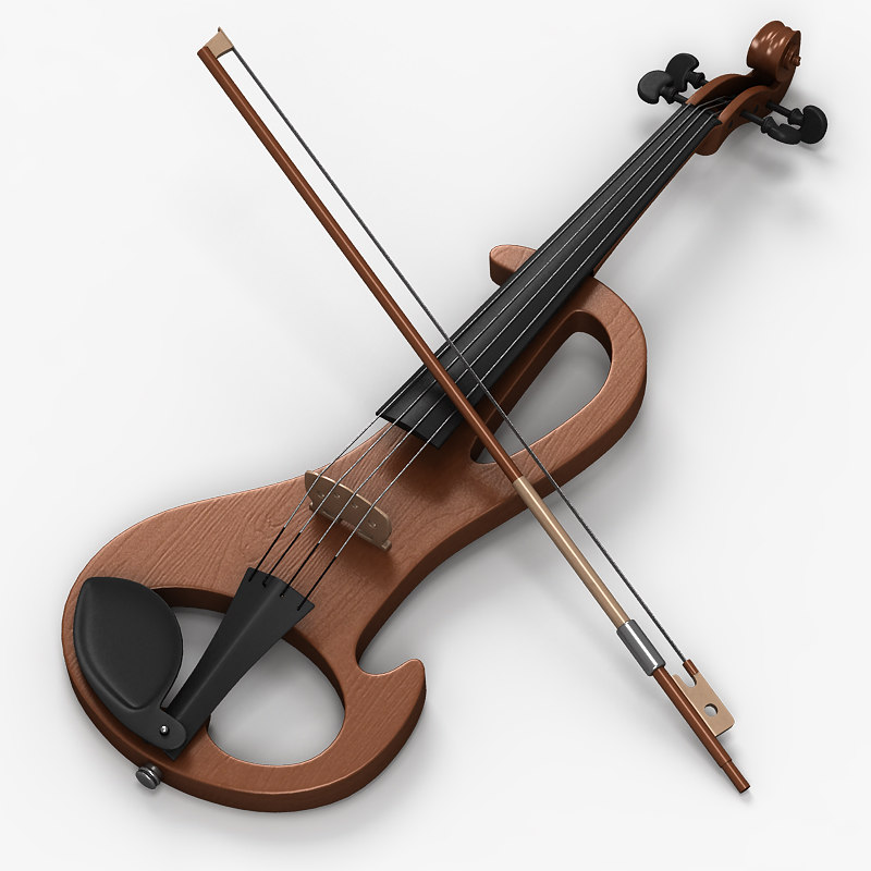 electric violin 2 3d model