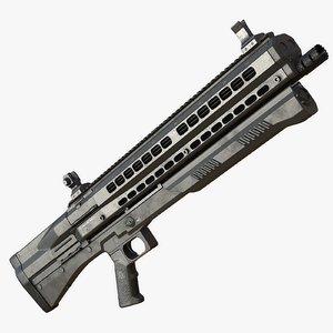 3d model shotgun utas uts-15