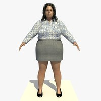 3d model realistically european woman clothed
