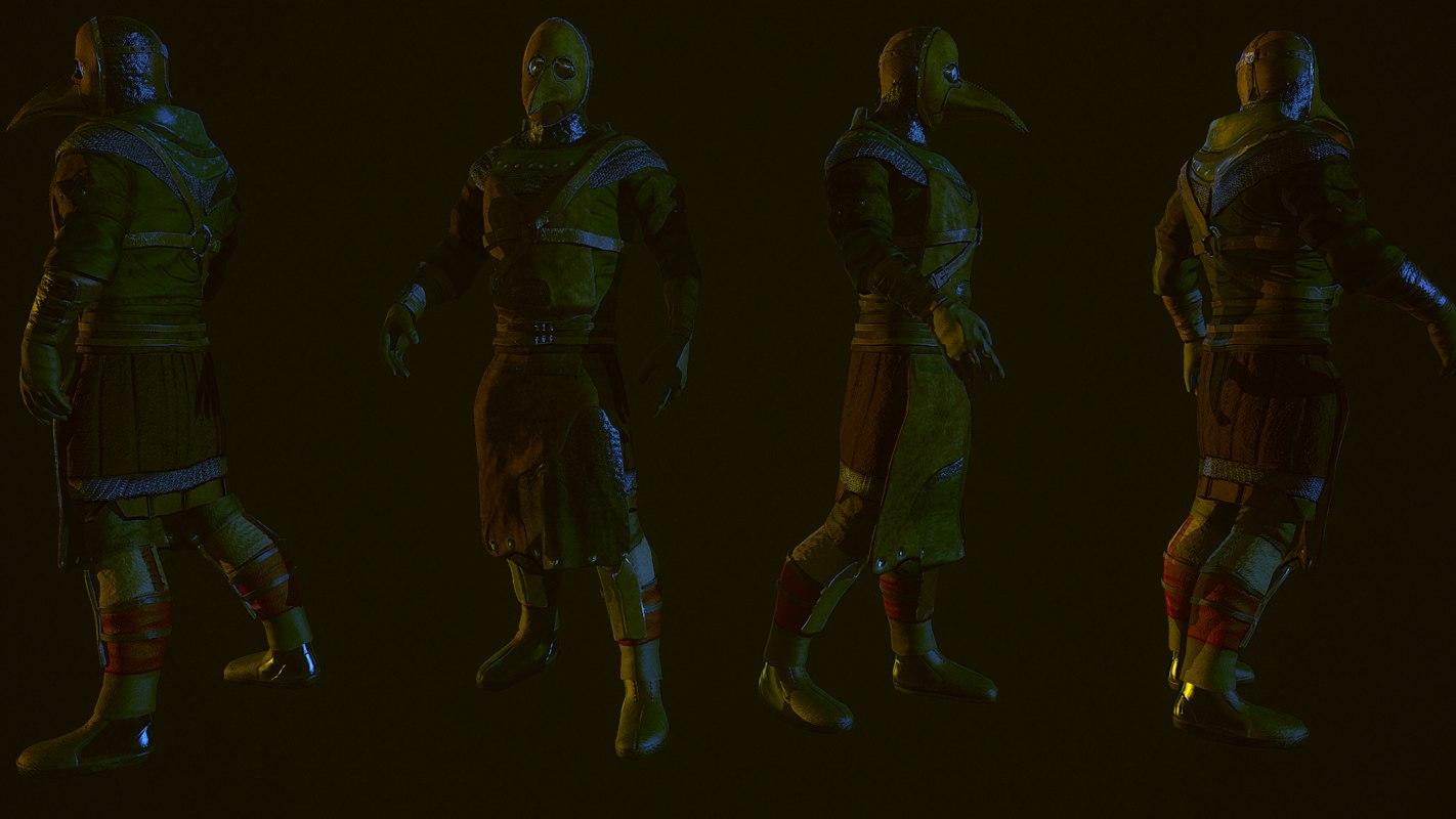 plague doctor 3d model