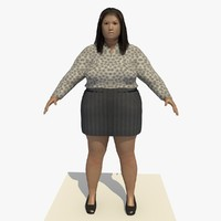 3d model realistically asian woman clothed