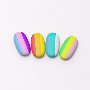 coloured eraser 3d obj