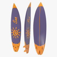 surfboard shortboard board 3d max