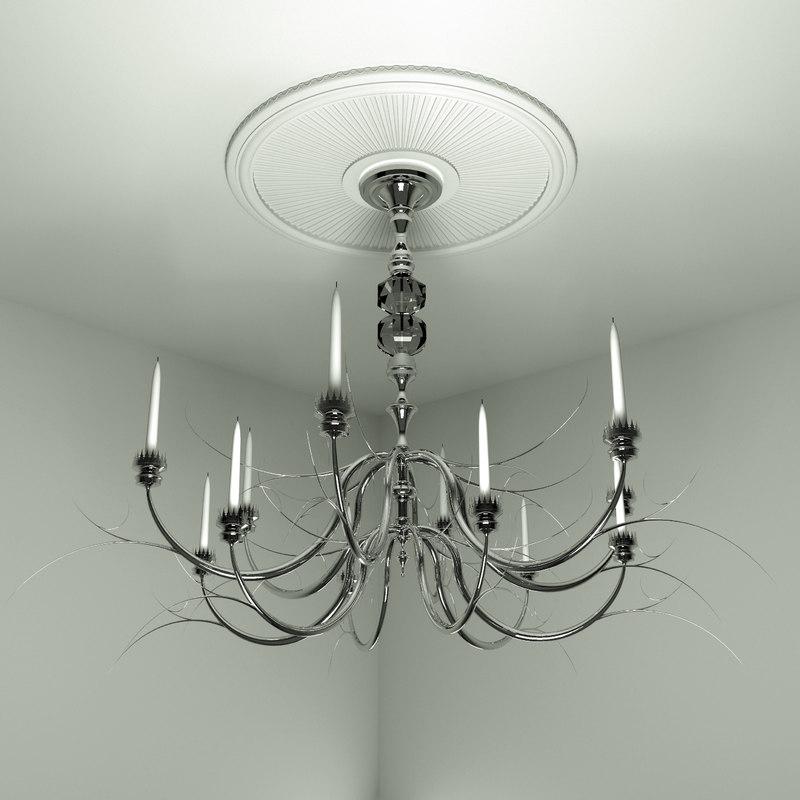 decorative chandelier 3d 3ds