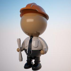 max engineer character cartoon