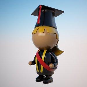 student character cartoon 3d max