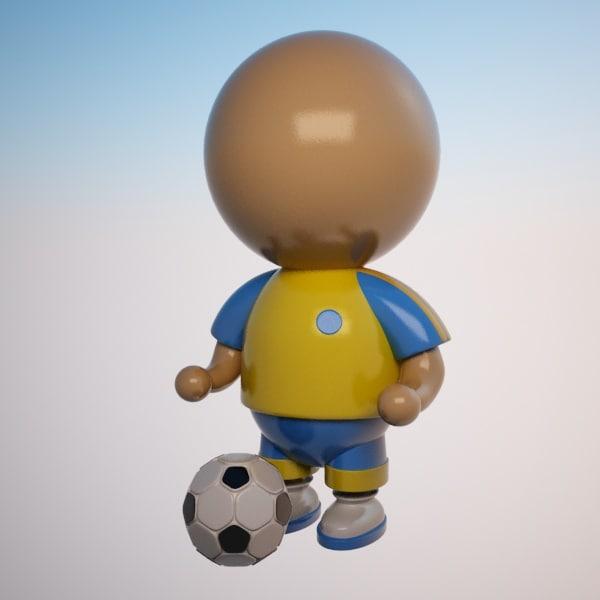 max cartoon sportsman character