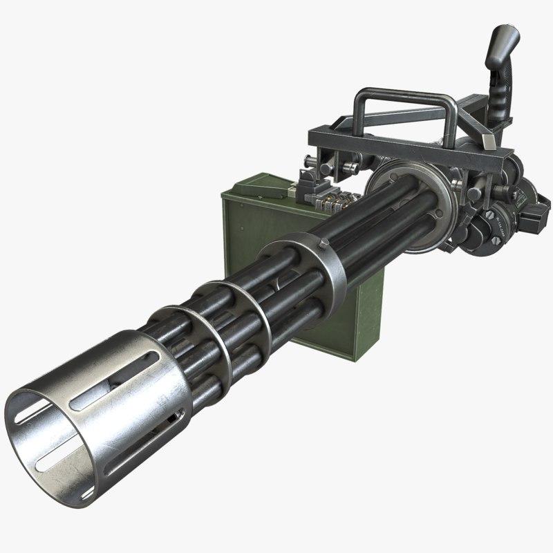 minigun asset polys max