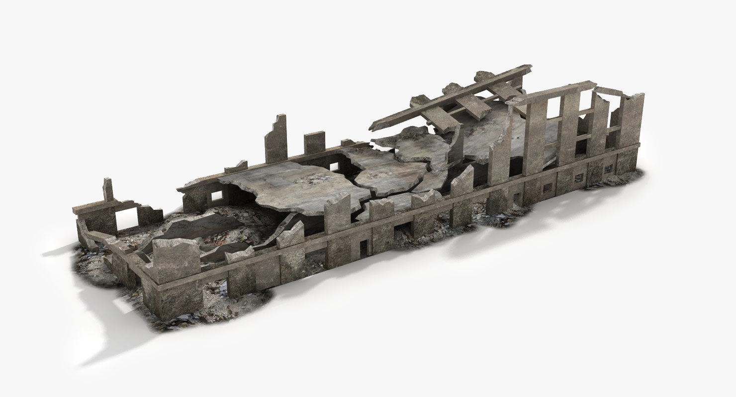 destroyed ruined building world war max