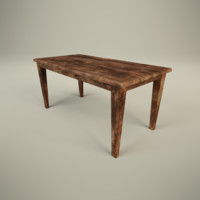 rustic table 3d model