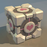 free obj model weighted companion cube portal