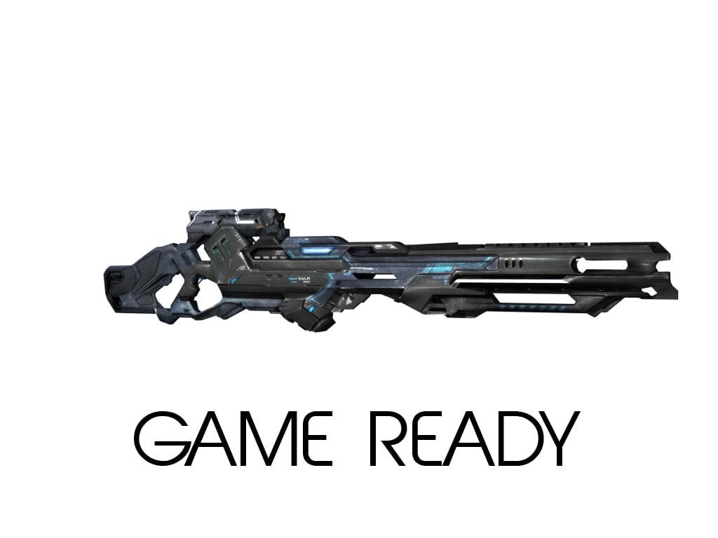 3d ready scifi rifle