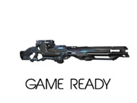 3d ready scifi rifle