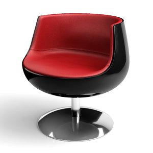 cognac chair 3d model