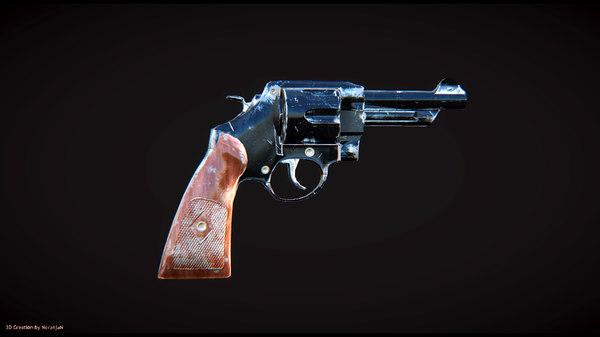 revolver games 3d model