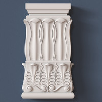 pilaster capital 3d obj