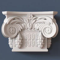 3d obj pilaster capital