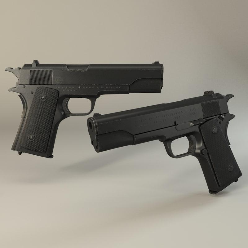 3d 191 m191 pistol