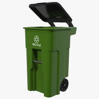 recyling bin green max