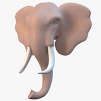 elephant statue 3d x