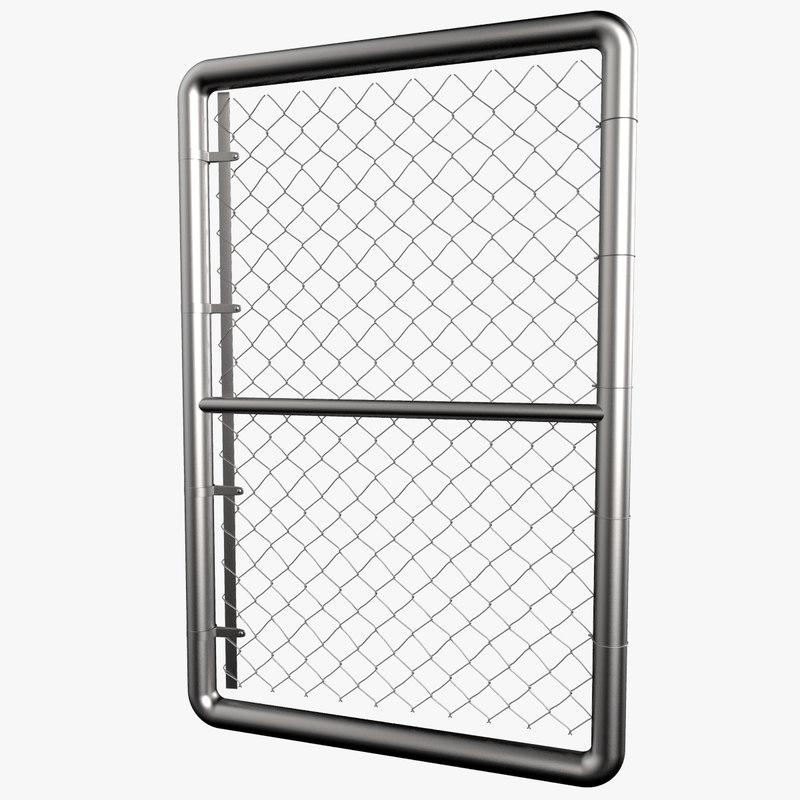 3ds max door chain link fence