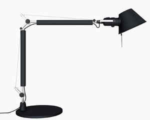 artemide tolomeo lamp 3d c4d