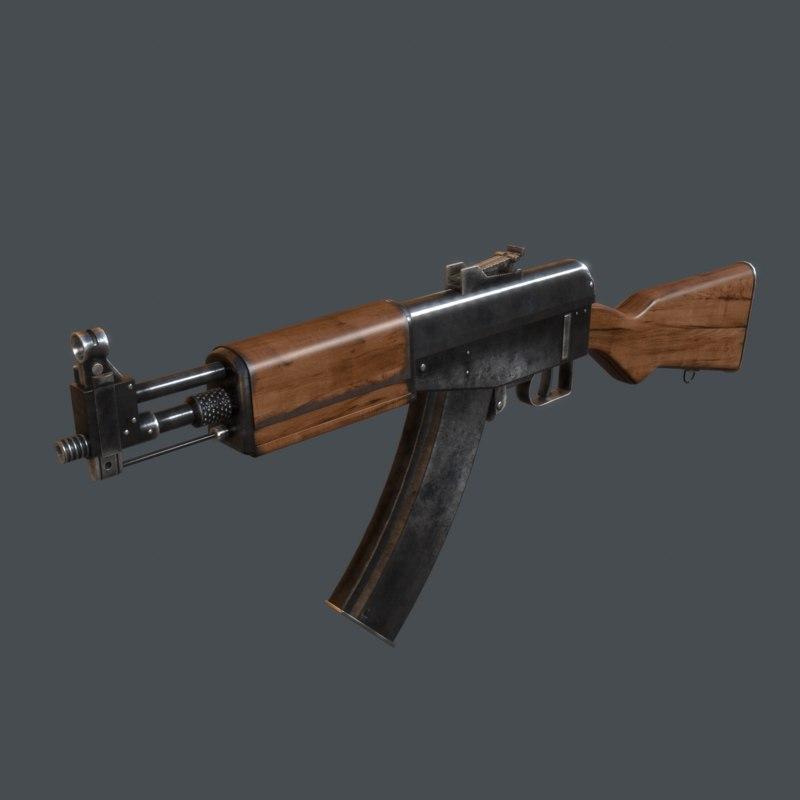simonov ag-042 assault rifle 3d obj